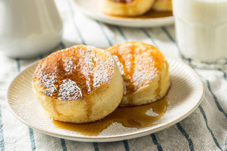 homemade fluffy japanese pancakes