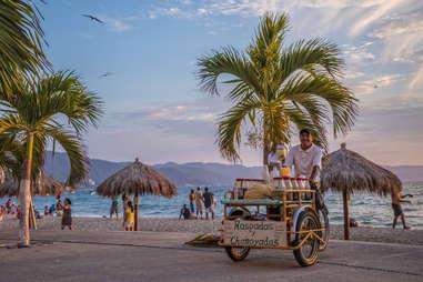 vendor on the malecon puerto vallarta