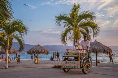 vendor on the malecon puerto vallarta