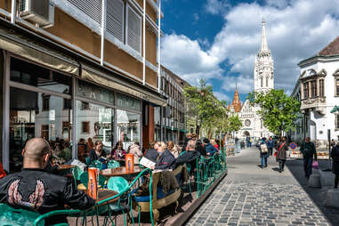 Buzzy outdoor cafés contribute loads of charm to Budapest's streets
