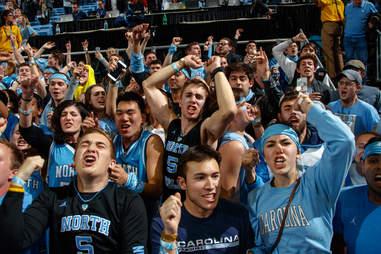 unc basketball fans