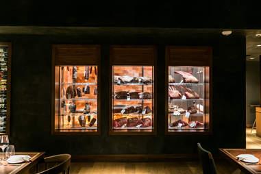 himalayan salt dry aging steak room