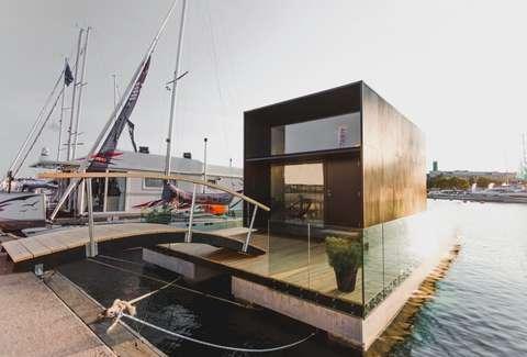 Kodasema Floating Prefab House: $55,000 Home embles In One Day ... on mobile river, mobile swimming pool, mobile shipyard, mobile hot tub, mobile restrooms, mobile storage shed, mobile island, mobile bridge, mobile floating deck,