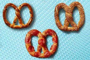 auntie anne's raisin pepperoni and almond pretzels