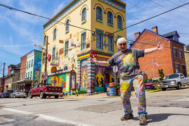Randy Gilson brought color to Pittsburgh's Northside with his eye-catching art exhibit.