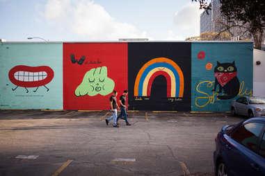Mural near UT Austin