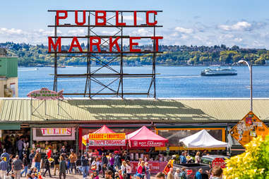 The Pike Place Market is a hotspot for Seattle weekenders.