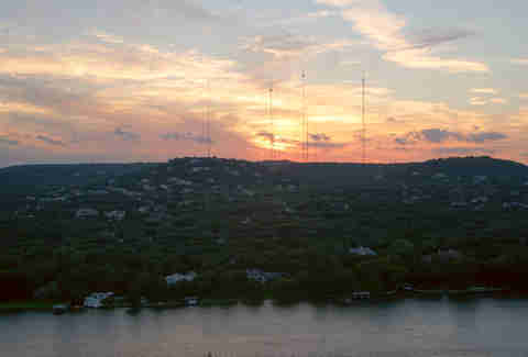 mount bonnell sunset view in austin tx