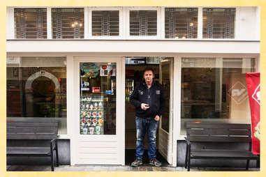 Manager Albert van der Hoek outside Wendy's Fish & Chips.