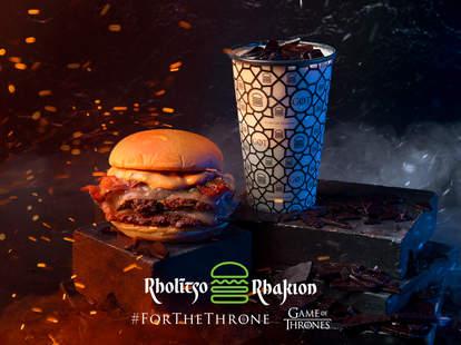 The Dracarys Burger and Dragonglass Shake