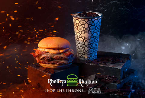 The Dracarys Burger and Dragonglass Shake