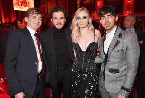 jack gleeson kit harington sophie turner and joe jonas