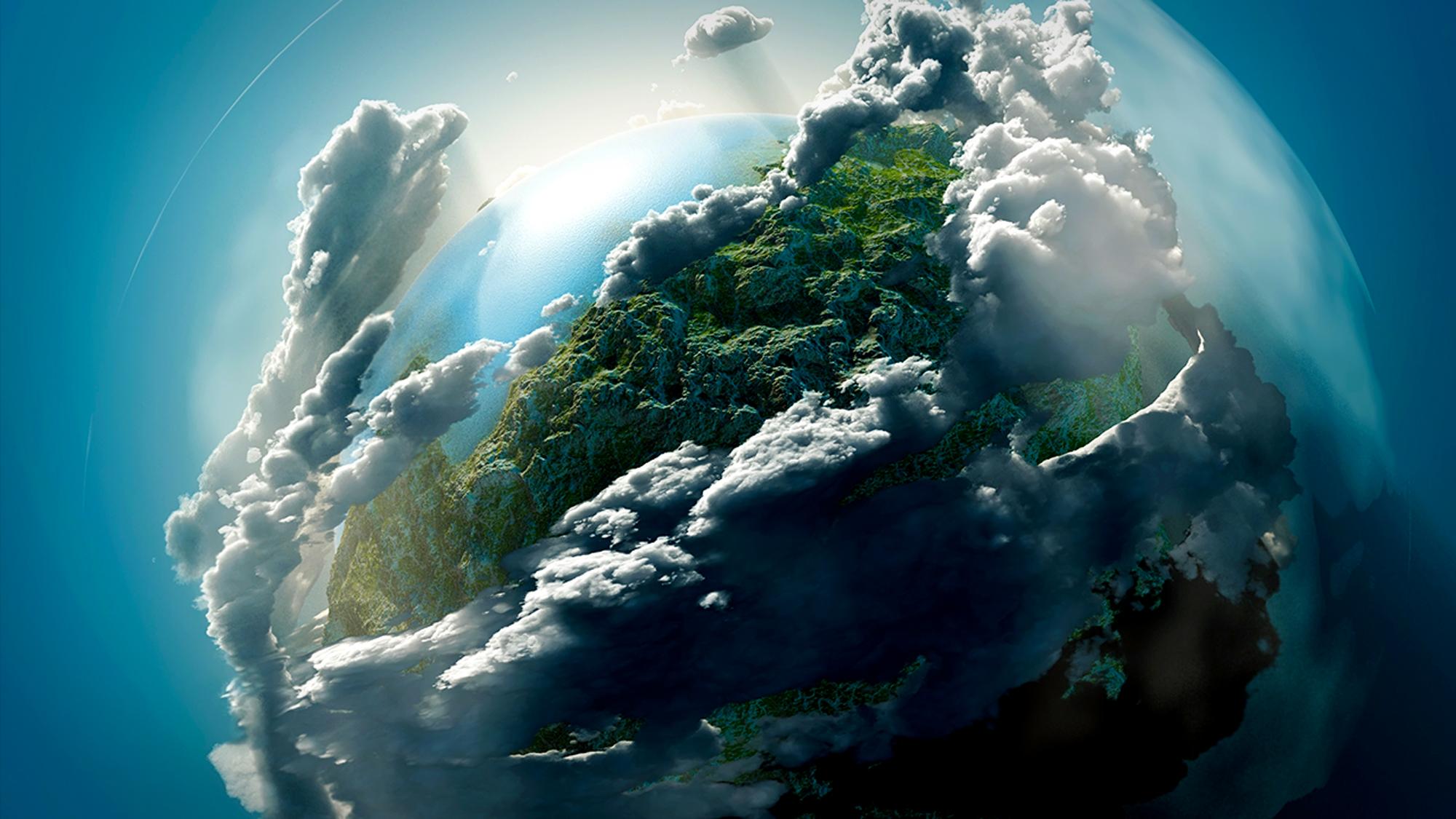 Gambar ilustrasi Bumi Yang Terselubung Lapisan Atmosfer