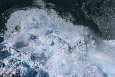 our planet glacier calving