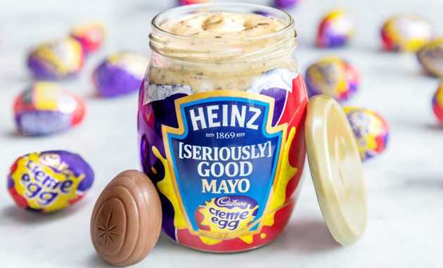 Heinz's Condiment Rampage Continues With Cadbury Creme Egg-Flavored Mayonnaise