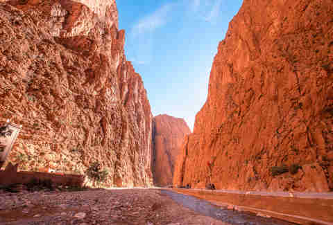 Todgha Gorge or Gorges du Toudra is a canyon in High Atlas Mountains