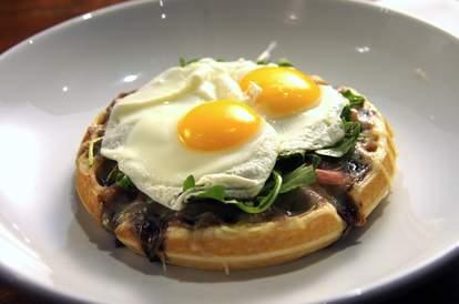 Savory Belgique Proscuitto Waffle Blue Boheme