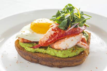 ocean prime lobster avocado toast