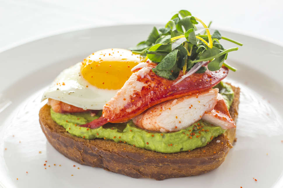 ocean prime lobster avocado toast