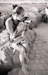 Avigayil Spero and her dog Jimmy in Jerusalem