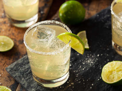 margarita made with tequila margaritas tequilas best affordable cheap drinks drink list thrillist buying guide lime salt glass affordable