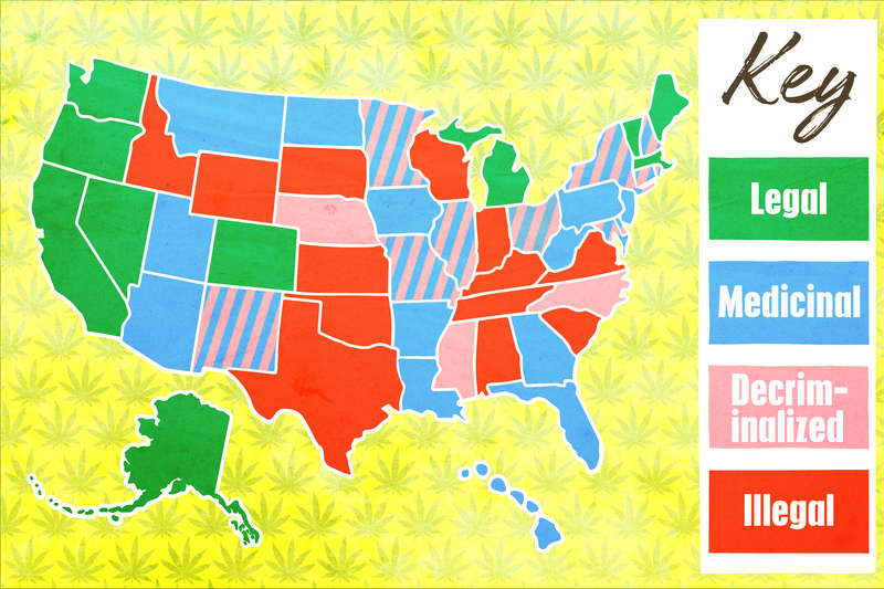 What States Have Legalized Weed? Weed Laws in All 50 States ...