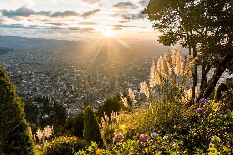 View from Monserrat over Bogota