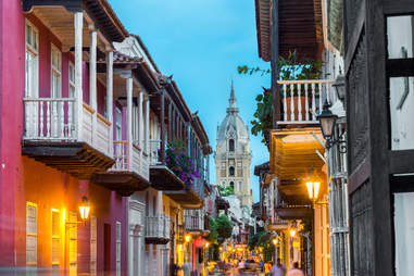 Street View Of Cartagena Cathedral