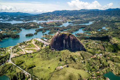 El Peñol of Guatape in Colombia
