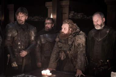 tormund beric ser davos jaime lannister at winterfell