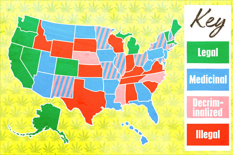 What States Have Legalized Weed? Weed Laws in All 50 States