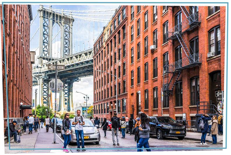 Manhattan Bridge Washington Street