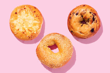 panera bagels sesame seed asiago blueberry