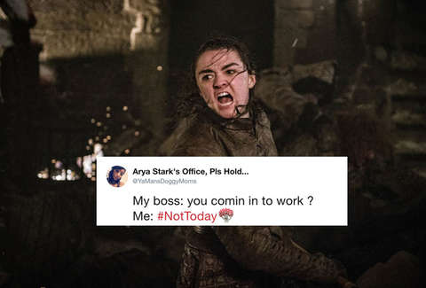arya not today meme