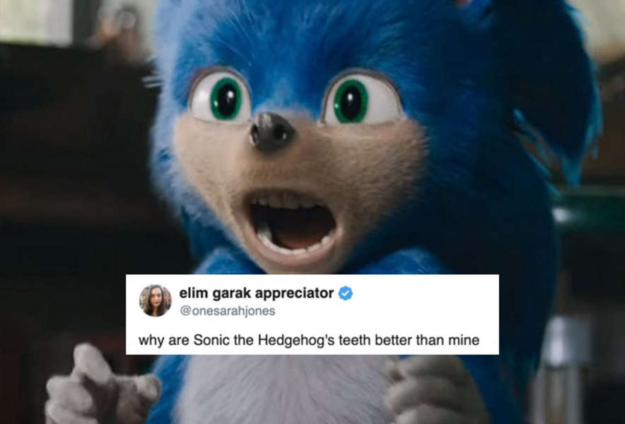 Sonic Movie Meme Sonic Has Horrifying Teeth In The New Trailer Thrillist