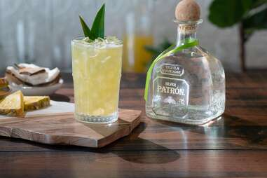 Patron Silver tequila bottle for marg