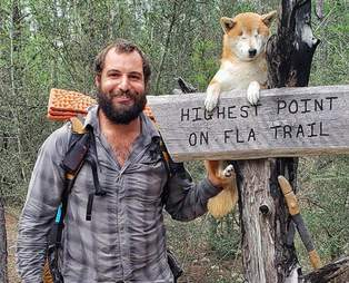 A guy and his blind dog hike the Florida Trail