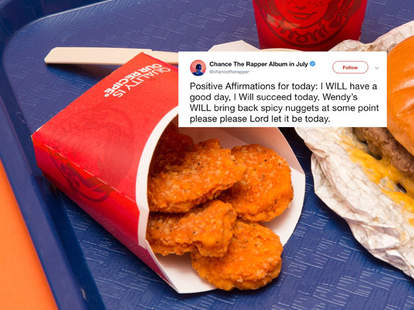 wendy's spicy chicken nuggets chance the rapper