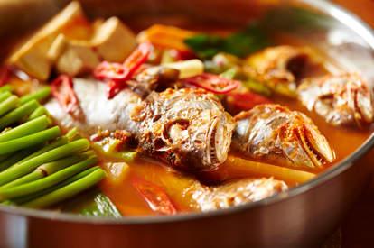 Korean spicy fish soup