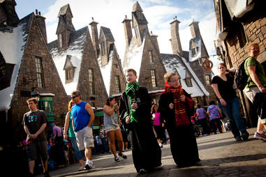 The Hogwarts Express will drop you off in Hogsmeade.