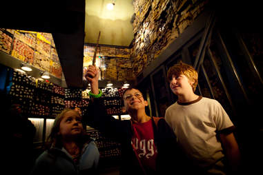 The wand chooses you at Ollivanders.