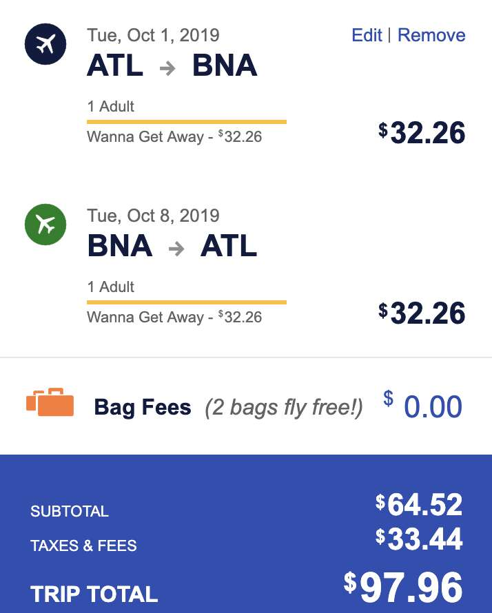 southwest flight sale