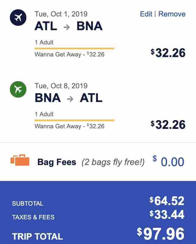 southwest flight sale