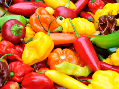 mix of chile chili peppers