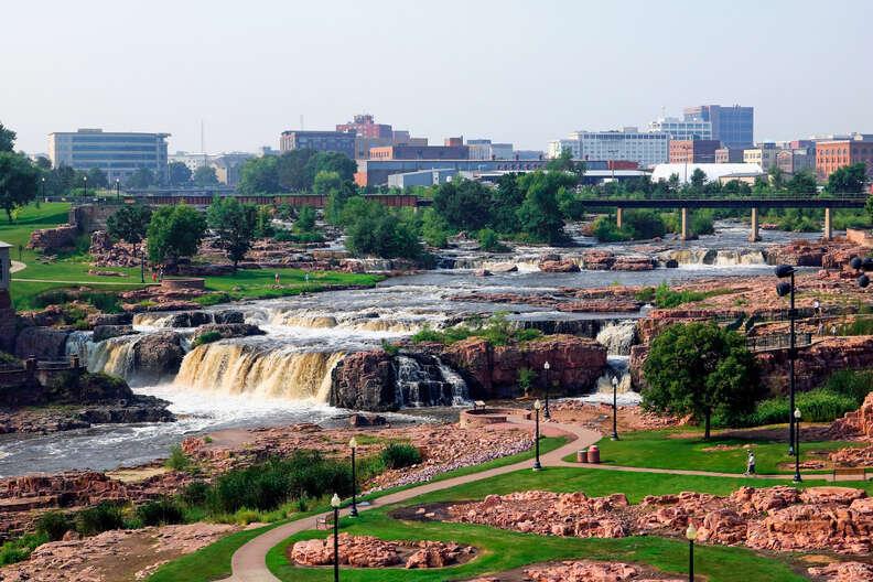alls Park in downtown Sioux Falls South Dakota