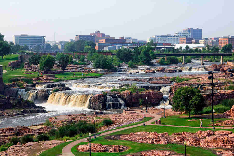 alls Park in downtown Sioux Falls South Dakota