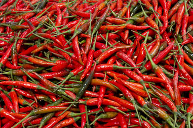 Thai chili chile peppers