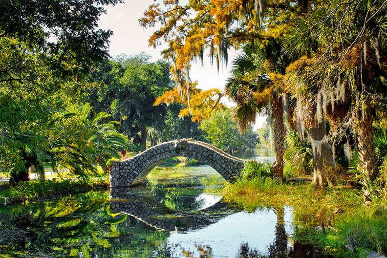 Old Stone Bridge, City Park, New Orleans