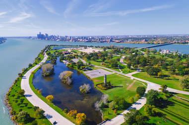 Belle Isle Aerial Detroit