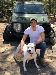 dog saves guy from car crash